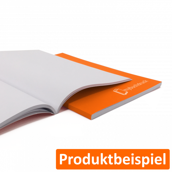 Softcoverbuch mit Klebebindung